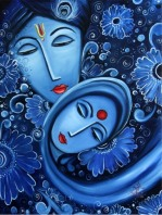 Manju Bhudhwar Sangam Oil on Canvas 40x30 Inches