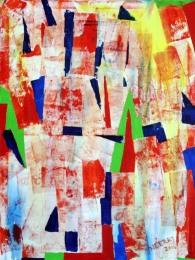 Neeraj Sharma Go Green Acrylic on Canvas 40x30 Inches