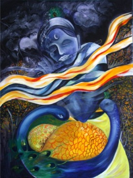 Parmanand Chaudhary Essence of Love Acrylic on Canvas 40x30 Inches