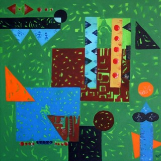 Poonam Rani Untitled Acrylic on Canvas 30x30 Inches
