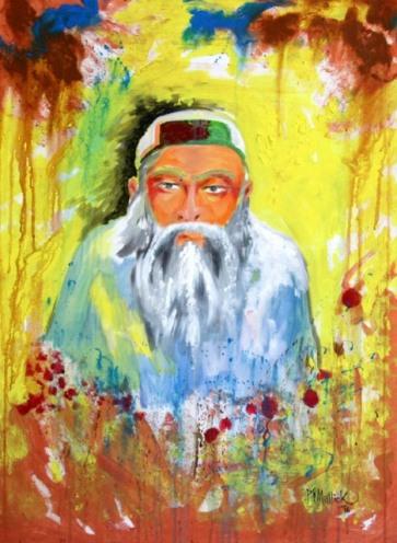 Pritiranjan Mallick Portrait Acrylic on Canvas 40x30 Inches