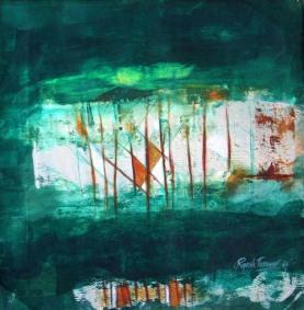 Rajesh Tanwar Energy Acrylic on Canvas 18x18 Inches